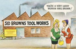 BAMFORTH Sid Browns Tool Works Vintage Comic Postcard refB1Vintage Postcard. An original postcard in very good condition for its age. Please see large photos and description for details. refB2