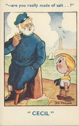CECIL Salt D.W.Rains Seaside Humour Vintage Comic Postcard refB1Vintage Postcard. An original postcard in very good condition for its age. Please see large photos and description for details. refB2