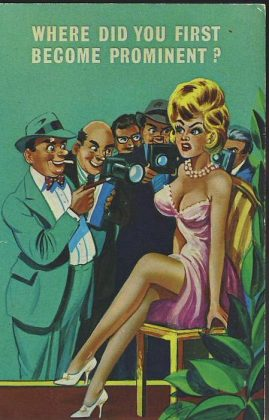 THE PRESS Glamour Photographs Vintage Comic Postcard refB1Vintage Postcard. An original postcard in very good condition for its age. Please see large photos and description for details. refB2