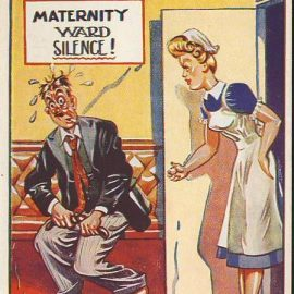MATERNITY WARD Nurse Drunk Man Vintage Irish Comic Postcard refB1Vintage Postcard. An original postcard in very good condition for its age. Please see large photos and description for details. refB2