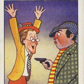 ROBBERY with gun humour Vintage Comic Postcard Coastal cards Clacton on sea refB1Vintage Postcard. An original postcard in fairly good condition for its age. Please see large photos and description for details. refB2