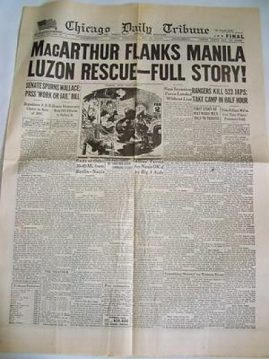 Pre-Owned Newspaper. Some creases and paper yellowing.