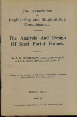 Very Good used condition.  Engineering Shipbuilding Draughtsmen 88 pages This is a vintage publication which has been read. Staples are rusty. Please read full description and see large photo. Ref228
