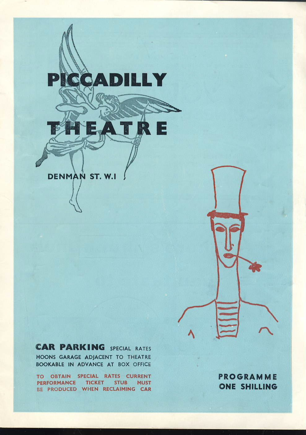 1962 Piccadillly Theatre Marcel Marceau Exercised de Style and Pantomimes de Bip with Pierre Verry - programme. Good used condition with some marks