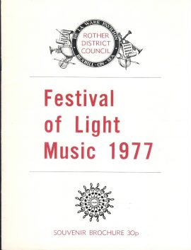1977 Rother District Council BEXHILL-ON-SEA Festival of Light Music Brochure - 16 pages. Good used condition.  This vintage Theatre programme measures approx 18cm x 24cm. Please read full description and see large photo. C