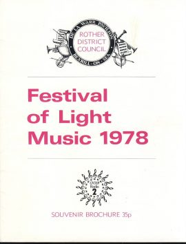 1978 Rother District Council BEXHILL-ON-SEA Festival of Light Music Brochure. Good used condition with some marks and creases on cover.  This vintage Theatre programme measures approx 18cm x 24cm. Please read full description and see large photo. C444