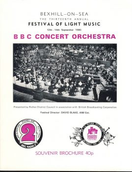 1980 BBC Concert Orchestra Bexhill-on-Sea 10 page Souvenir Brochure. Good used condition with some handling creases.  This vintage Theatre programme measures approx 18cm x 24cm. Please read full description and see large photo. C