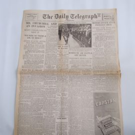 Daily Telegraph July 15th 1940 6 page reproduction newspaper history teaching research projects materials RefS4 This is a pre-owned paper in good condition. Ideal for projects and research. Please see full description and photo.