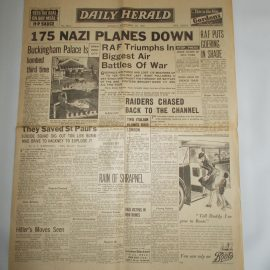 Daily Herald September 16th 1940 6 page reproduction newspaper history teaching research projects materials RefS4 This is a pre-owned paper in good condition. Ideal for projects and research. Please see full description and photo.