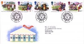 1994-08-02 Summertime The Four Seasons FDC with insert card. Typed address.  Bureau FDI refA1