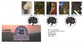 1995-04-11 National Trust Centenary FDC Royal Mail First Day Cover with insert card Bureau fdi refA6