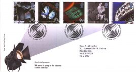 1996-04-16 Cinema Centenary FDC Bureau fdi with insert card refA15