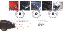 1996-10-01 Classic Sports Cars FDC Bureau fdi Royal Mail First Day Cover with insert card refA21