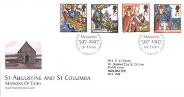 1997-03-11 Religious Anniversaries Missions Royal Mail First Day Cover Bureau fdi with insert card refA24
