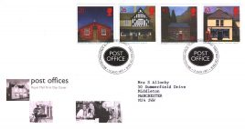1997-08-12 Post Offices sub Pos Royal Mail First Day Cover Bureau fdi with insert card refA27