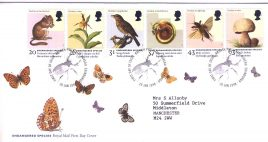 1998-01-20 Endangered Species Royal Mail FDC Bureau fdi with insert card refA31