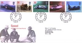 1998-09-29 Great British Land Speed Records Royal Mail FDC Bureau with insert card refA39