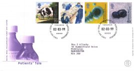 1999-03-02 Patients Tale Royal Mail Millennium FDC Bureau fdi with insert card refA43