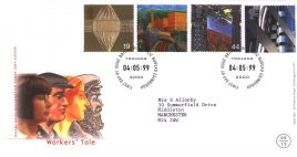 1999-05-04 Workers Tale Royal Mail Millennium FDC Bureau fdi with insert card refA45