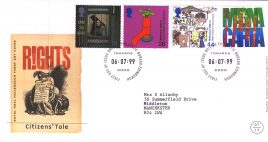 1999-07-06 Citizens Tale Royal Mail Millennium FDC Bureau fdi with insert card refA47