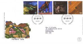 1999-09-07 Farmers Tale Royal Mail Millennium FDC Bureau fdi with insert card refa49