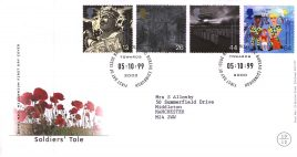 1999-10-05 Soldiers Tale Royal Mail Millennium FDC Bureau fdi with insert card refA50