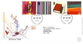 1999-12-07 Artists Tale Royal Mail Millennium FDC Bureau fdi with insert card refA52