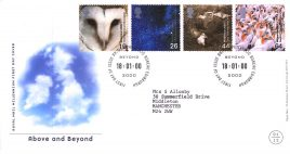 2000-01-18 Above and Beyond Royal Mail Millennium FDC Bureau fdi with insert card refA53