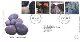 2000-03-07 Water and Coast Royal Mail Millenium FDC Bureau fdi with insert card refA55