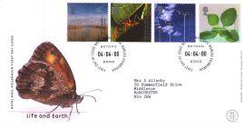 2000-04-04 Life and Earth Royal Mail Millennium FDC Bureau fdi with insert card refA56