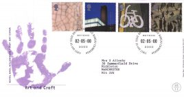 2000-05-02 Art and Craft Royal Mail FDC Bureau fdi with insert card refA57
