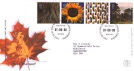 2000-08-01 Tree and Life Royal Mail Millennium FDC with insert card Bureau fdi refa61