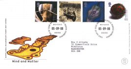 2000-09-05 Mind and Matter Royal Mail FDC with insert card Bureau fdi refA62