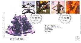 2000-10-03 Body and Bone Royal Mail Millennium FDC with insert card Bureau fdi refA64