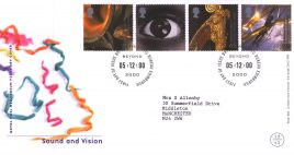 2000-12-05 Sound and Vision Royal Mail Millennium FDC with insert card refA66