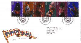 2001-09-04 Punch and Judy Royal Mail FDC with insert card. Tallents House. refA73