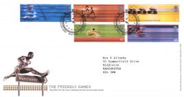 2002-07-16 The Friendly Games xvii Commonwealth Games FDC Tallents House with insert card refA78