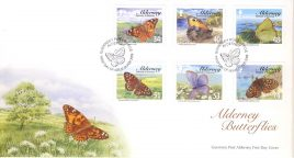 FO2005 2007 Butterflies Guernsey Post Alderney FDC First Day Cover Very Good Condition. With insert card. Please see larger photos and full description for details.