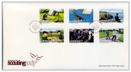 2007 Guernsey Post FDC Centenary of Scouting first day cover. Very Good condition with insert card. Please see larger photo for details.