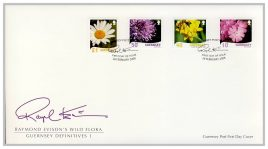 2008-02-28 Guernsey Post FDC Raymond Evison's Wild Flora Definitives 1 - two first day cover set. Very Good condition with insert card. Please see larger photo for details. refFO1013