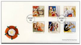 2009 Coronation of Henry VIII Stamps Guernsey Post Office fdi FDC first day cover. Very Good condition with insert card. Please see larger photo for details.