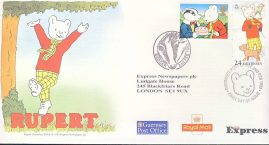 1993 RUPERT BEAR & BADGER stamps cover Guernsey fdi EXPRESS NEWSPAPERS refd481  In very good condition. Unsealed with insert card. Please see larger photo and full description for details.