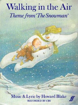 Walking in the Air Theme from The Snowman vintage sheet music refS1-3047 Good Condition for age . Please see large photo and read full description.