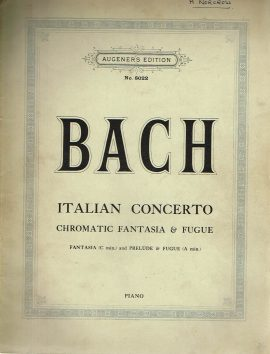 Italian Concerto BACH Piano vintage sheet music Augener's Edition no.8022 48 pages refS1-3048 Good Condition for age . Please see large photo and read full description.