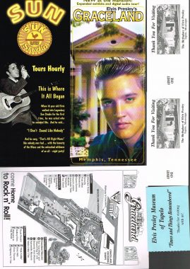 Elvis Graceland Sun Studio Memorabilia postcards flyers ticket stubs magazine JOB LOT S4 This is a pre-owned collection in very good clean condition. Consisting of 8 postcards - all clean and unused