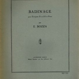 BADINAGE pour Trompette ut ou Si b et Piano par E. BOZZA vintage sheet music refS1-3053 Good Condition for age . Please see large photo and read full description.