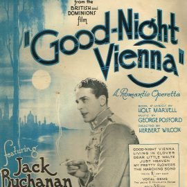 Good-Night Vienna Jack Buchanan vintage sheet music refS1-3055 Good Condition for age . Please see large photo and read full description.