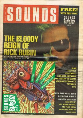 SOUNDS Music Newpaper & Sounds Blasts! EP3 March 11 1989 52 pages refMage2 S9 Good condition for a vintage newspaper. EP3 taped on front cover. Tear to front cover. Please see photo and read full description.