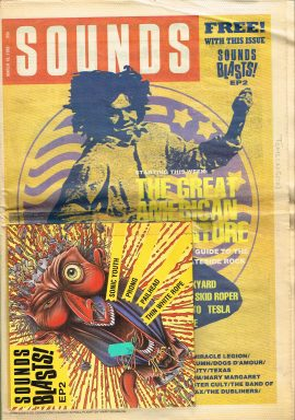SOUNDS Music Newpaper & Sounds Blasts! EP3 March 18 1989 52 pages refMage2 S9 Good condition for a vintage newspaper. EP3 taped on front cover. Name written on cover. Please see photo and read full description.
