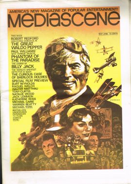 1975 MEDIASCENE May-June issue 13 American Entertainment paper magazine 32 pages refMag2S9 Robert Redford
